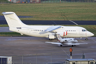 OE-FZA & G-RAJJ On The Elmdon Apron