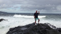 Dad owning the whole ocean