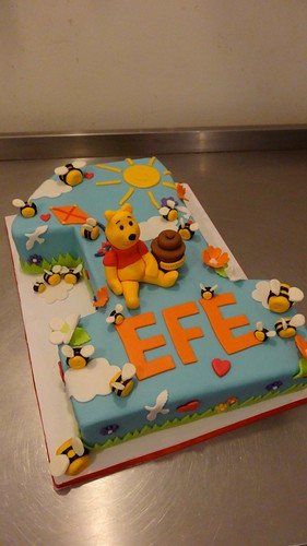 Winnie The Pooh 1st Birthday Cake by CAKE Amsterdam - Cakes by ZOBOT