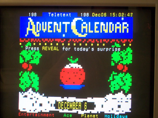 Teletext Advent Calender, 2005