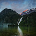 Bowen Falls in Milford Sound by Stuck in Customs