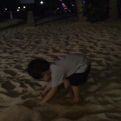 Can't sleep. Sand is our favorite thing right now.
