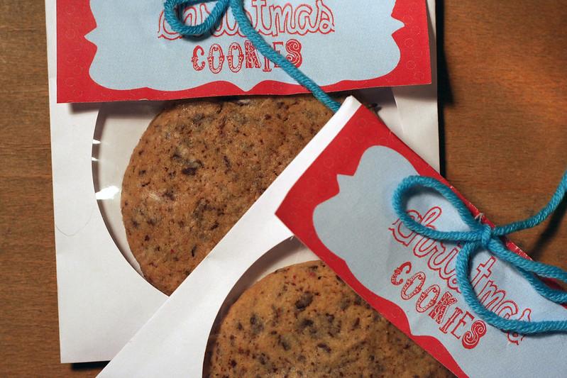 pfeffrige cookies im cd-kuvert