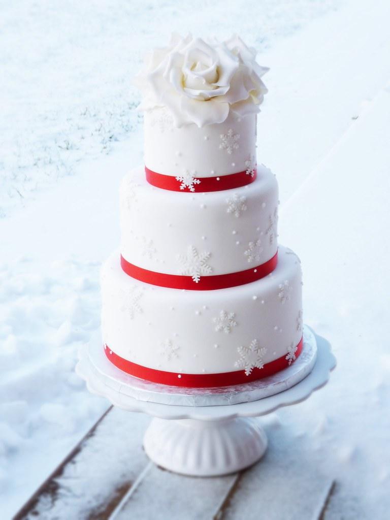 Winter Themed Wedding Cake Linda Marklund Flickr