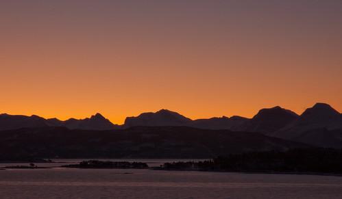 winter norway sunrise