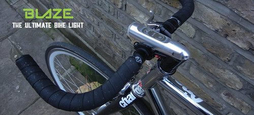 BLAZE bike light (courtesy of Emily Brooke & Kickstarter)
