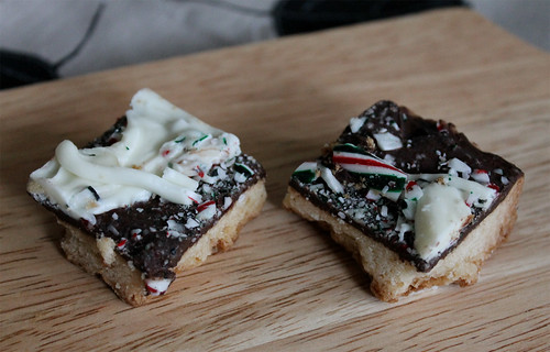Chocolate Peppermint Bark Cookie Bars