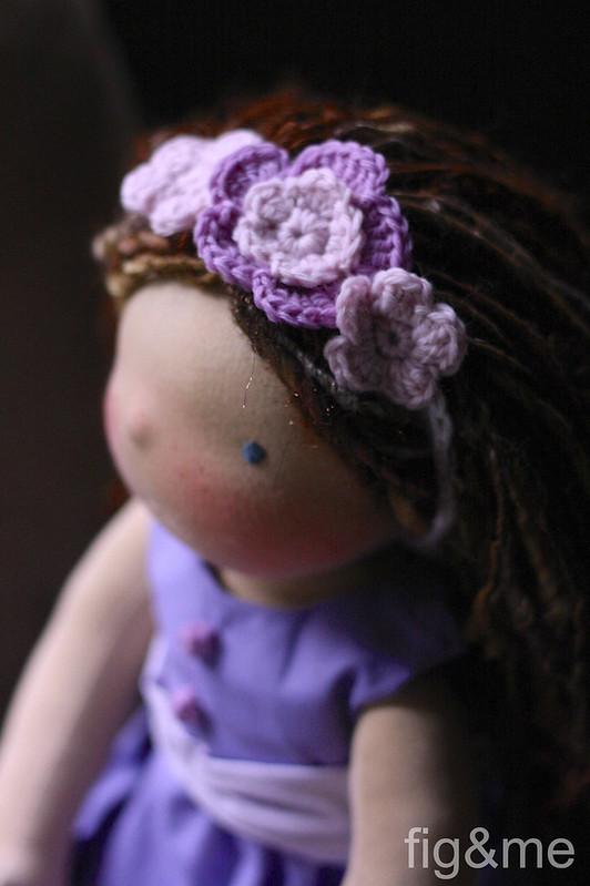 A flower headband
