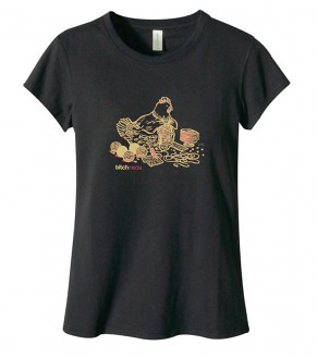 "image of ""Knittin Chicken"" t-shirt"