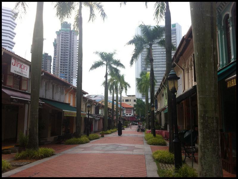 Deserted pedestrian street in Arab Street