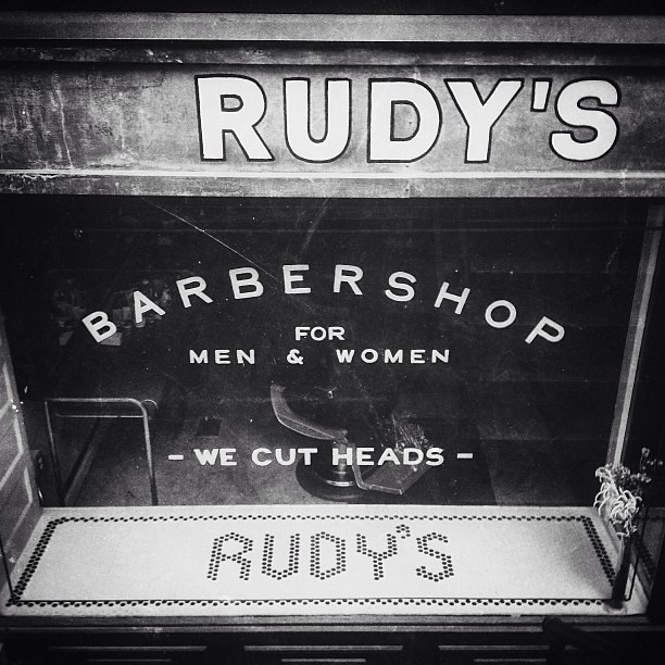 Great type from Rudy's #walkingtoworktoday
