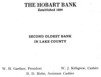 Hobart Bank ad
