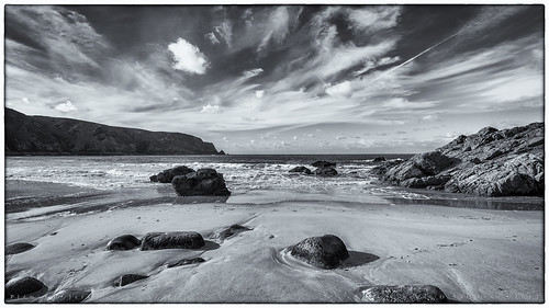 greatbritain sea sky seascape beach water clouds landscape island rocks europe jersey channelislands plémont