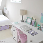 My guest bedroom desk & bed