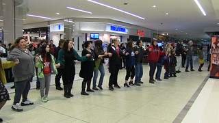 Idle No More Flash Mob Round Dance at WEM