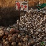 Garlic and Onion at the Fresh Market - Hurghada, Egypt