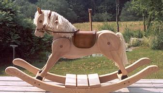 blond rocking horse