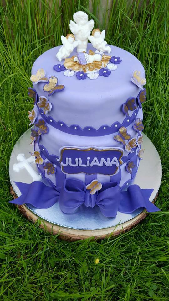Butterflies and Angels Cake by Iulia Maria Cujba of Jules Cakery