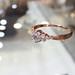霍爾之星 清新淡雅托帕石/鎬石戒指 925銀 A004玫瑰金