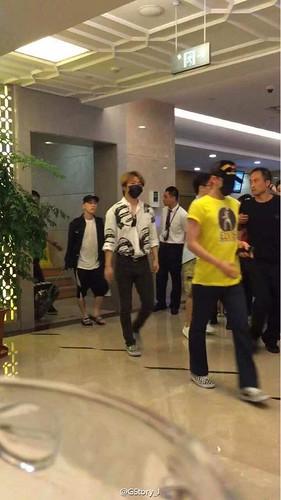 BIGBANG lArrival Shenzhen from Seoul 2015-08-07 046