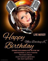 Today is the #big #birthday #bash for our #beloved #missdarlingk , #karenmarine. I'll be there soon! Let's show some #love to someone who shows love to everyone every day!