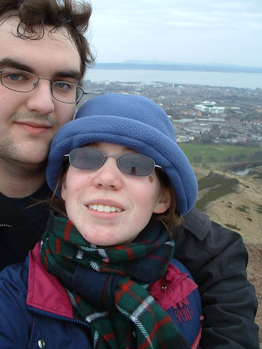Katie and Ian on Arthur's Seat