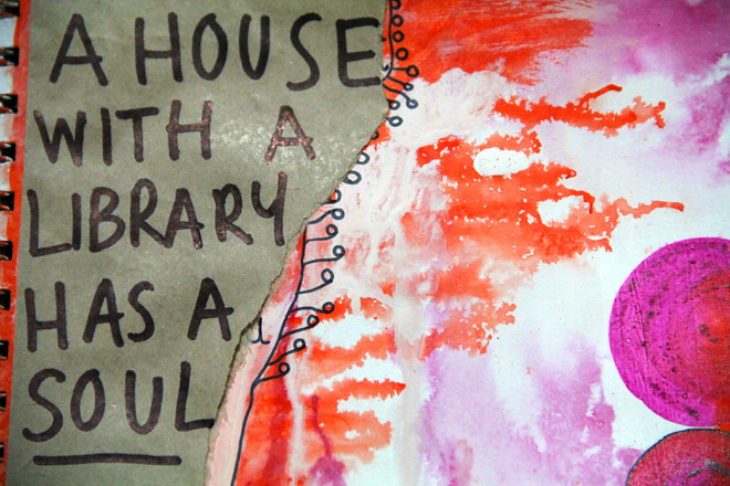 A house with a library has a soul