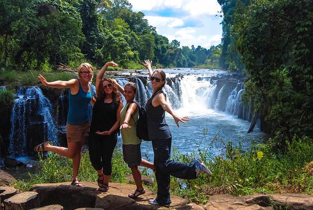 waterfall fun in the bolaven plateau