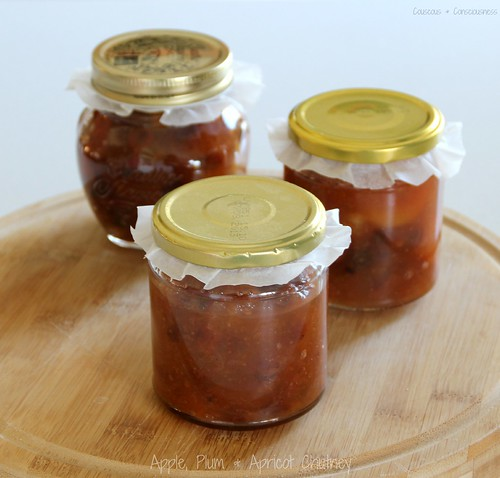 Apple, Plum & Apricot Chutney 1