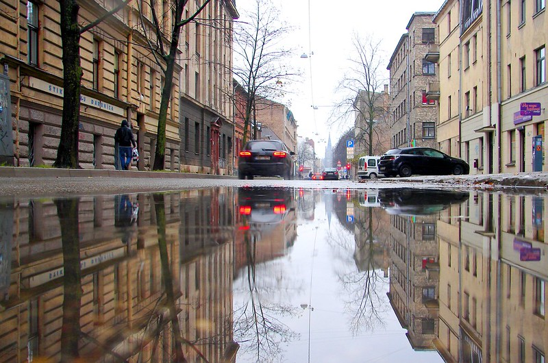 Artilerijas street in reflection by aigarsbruvelis