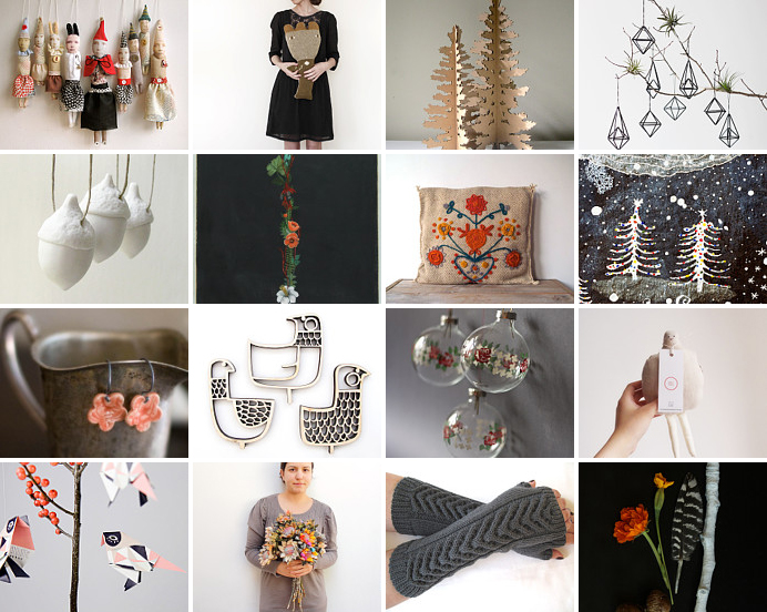 feeling a little non-traditionally festive : Etsy treasury curated by Emma Lamb
