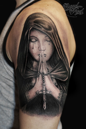 gothic prayer anne stokes design tattoo a photo on flickriver. Black Bedroom Furniture Sets. Home Design Ideas