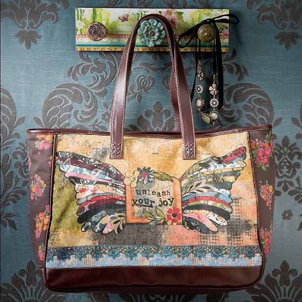 A little sneak peek at my new tote collection!!!! This is one of several. Excited!