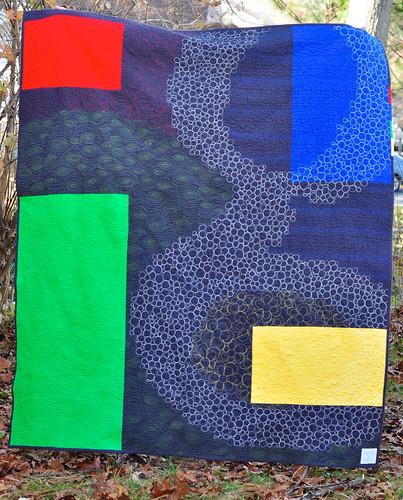 Google quilt - back