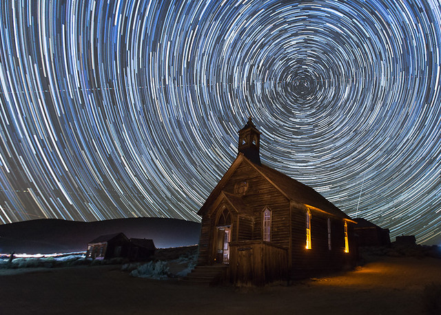 Starry Night over Bodie Church