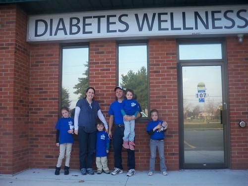Team at a diabetes care facility