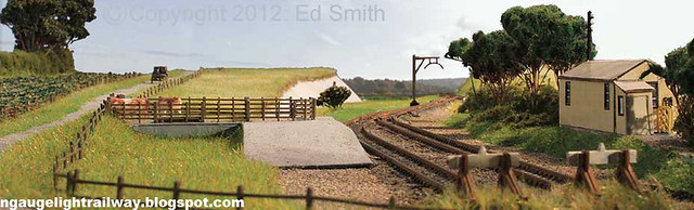 N gauge Model Railway. Basingstoke to Alton Railway - Cliddesden Station 1916