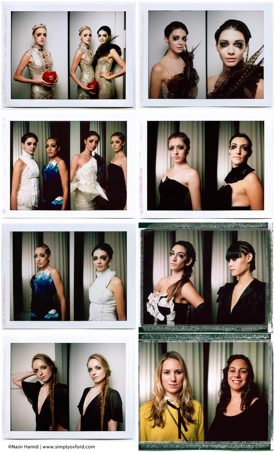 Shots made back stage on FP100-C Fuji instant pack film