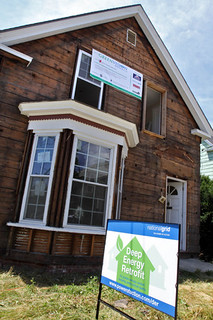 deep green retrofit for veterans in Haverhill, MA (by: Angie Beaulieu, eagletribune.com)