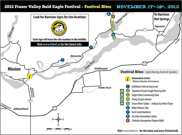 Fraser Valley Bald Eagle Festival 2012 Map