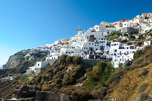 Climbing Up to Oia