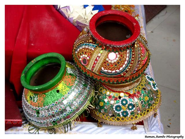 Happy Diwali 2012 Colorful Decorative Pots