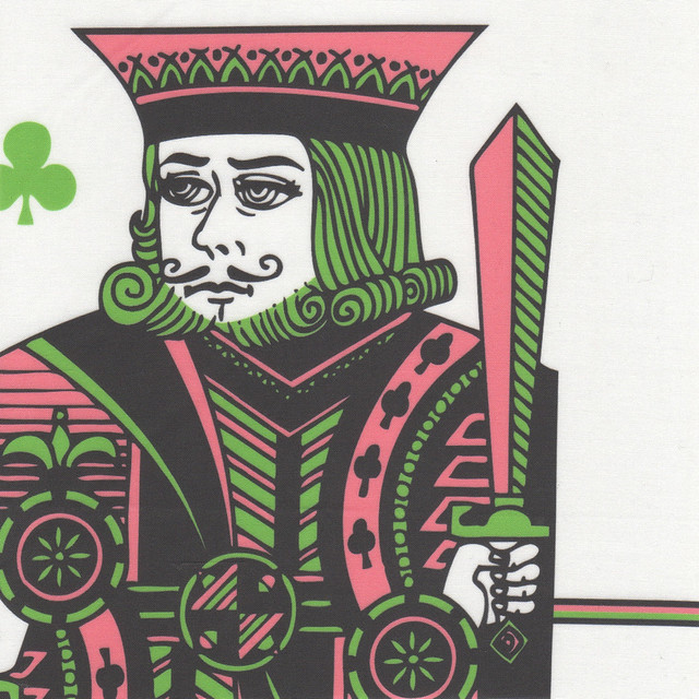king of clubs - pink green