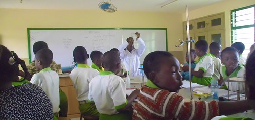 Science is taught to students at the St Louis Jubilee School in Kentinkrono, Ghana