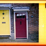yellow and red doors