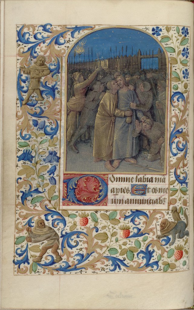 15th c. illuminated manuscript biblical miniature