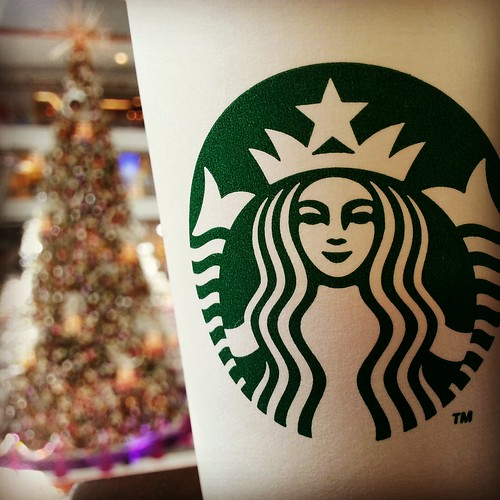 Starbucks and the Christmas Tree at SM Lanang Premier