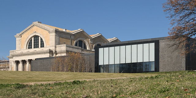 Saint Louis Art Museum, in Forest Park, Saint Louis, Missouri, USA - view from back with new wing