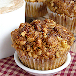 Apple Muffins with Crunchy Nutty Topping