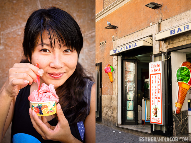 gelato break near trevi fountain When in Rome Day 1 | What to do and see in Rome in 48 hours | Travel Photography